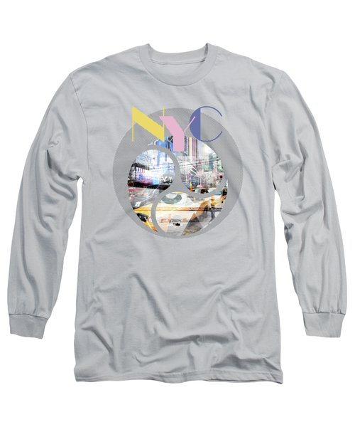 Trendy Design New York City Geometric Mix No 1 Long Sleeve T-Shirt by Melanie Viola