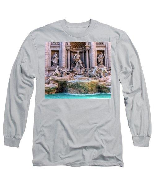 Trevi Fountain, Roma, Italy Long Sleeve T-Shirt