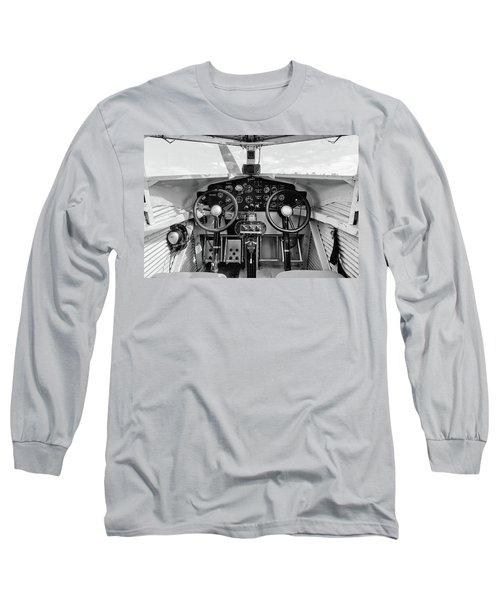Tri-motor Cockpit - 2017 Christopher Buff, Www.aviationbuff.com Long Sleeve T-Shirt