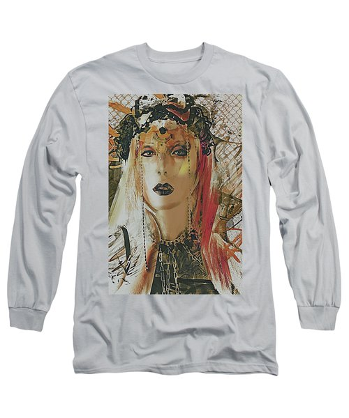 Tribal Rust Portrait Long Sleeve T-Shirt