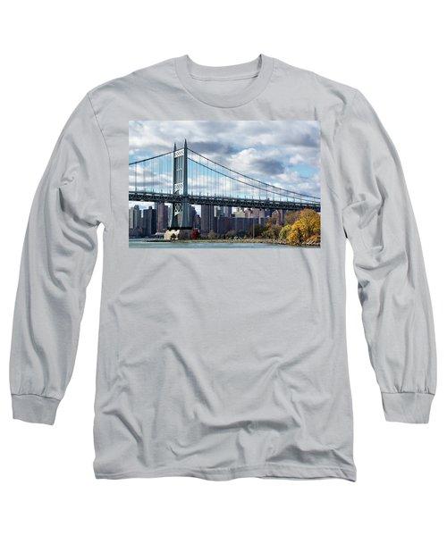 Triboro Bridge In Autumn Long Sleeve T-Shirt