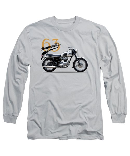 Triumph Bonneville 1963 Long Sleeve T-Shirt by Mark Rogan