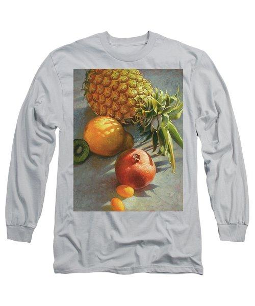 tropical Fruit Large Long Sleeve T-Shirt