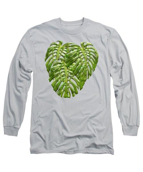 Tropical Jungle Greens Long Sleeve T-Shirt