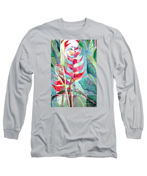 Tropicana Red Long Sleeve T-Shirt by Mindy Newman