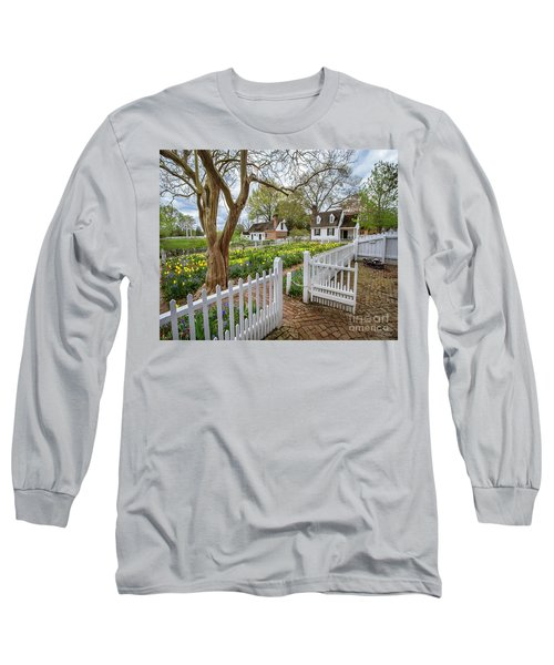 Tulip Garden Colonial Williamsburg  Long Sleeve T-Shirt