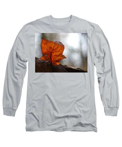 Long Sleeve T-Shirt featuring the photograph Tulip Leaf  by Jane Ford