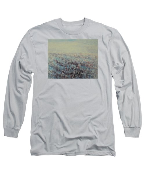 Tulips Dance Abstract 3 Long Sleeve T-Shirt by Jane See