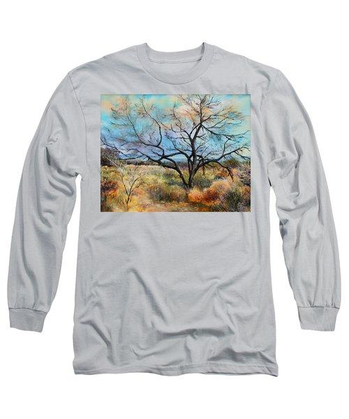 Tumbleweeds Long Sleeve T-Shirt by M Diane Bonaparte