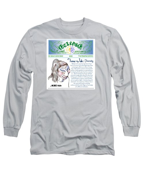 Long Sleeve T-Shirt featuring the painting Real Fake News Spiritual Columnist 1 by Dawn Sperry