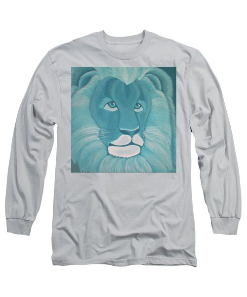 Turquoise Lion Long Sleeve T-Shirt