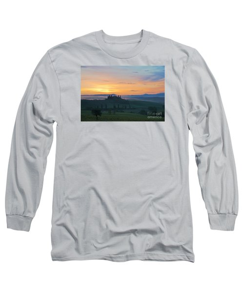 Tuscan Morning Long Sleeve T-Shirt by Yuri Santin