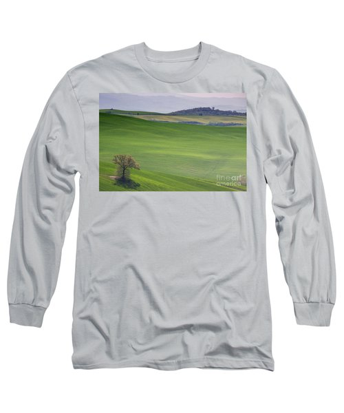 Tuscany Landscape Long Sleeve T-Shirt by Ana Mireles