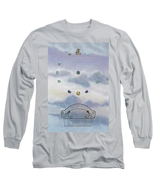 Long Sleeve T-Shirt featuring the painting Twelve by Laurie Stewart