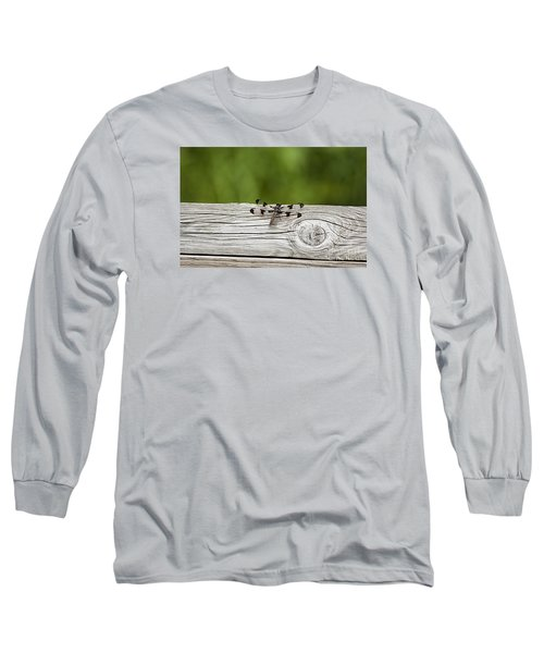 Long Sleeve T-Shirt featuring the photograph Twelve Spotted-skimmer 20120703_213a by Tina Hopkins