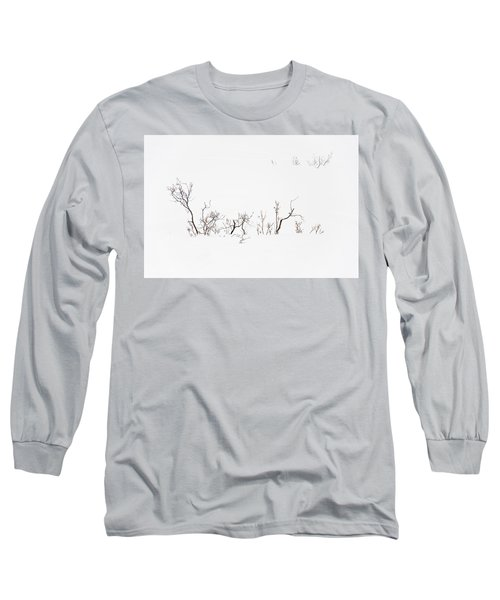 Twigs In Snow Long Sleeve T-Shirt