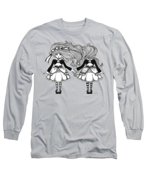 Twins Alice Long Sleeve T-Shirt by Akiko Okabe