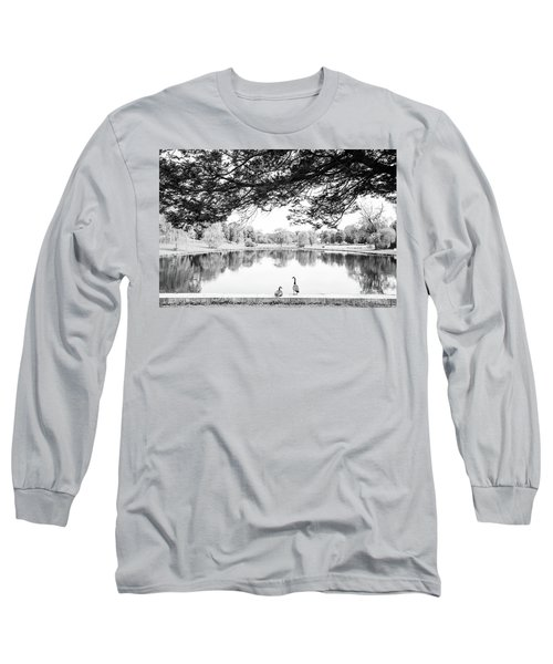 Long Sleeve T-Shirt featuring the photograph Two At The Pond by Karol Livote