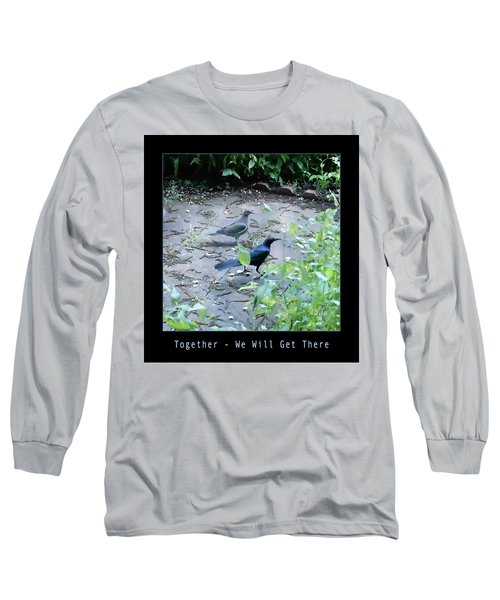 Two Birds Blue Long Sleeve T-Shirt by Felipe Adan Lerma