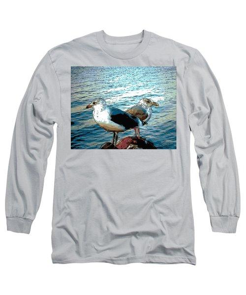 Two Gulls Long Sleeve T-Shirt