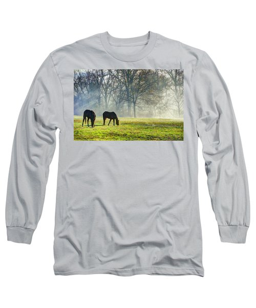 Two Horse Morning Long Sleeve T-Shirt