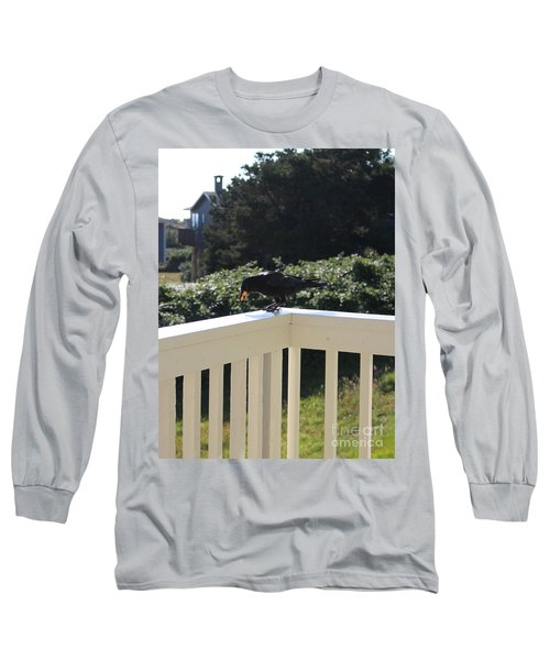 Long Sleeve T-Shirt featuring the photograph Two In The Beak by Marie Neder