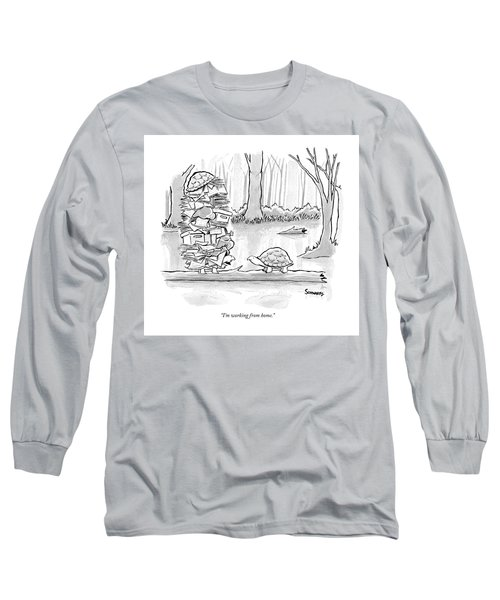 Two Tortoises Speak. One Has A Large Number Long Sleeve T-Shirt