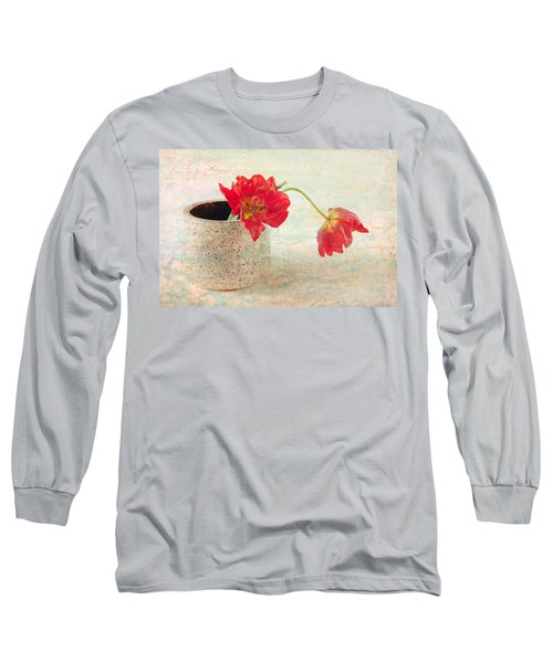 Two  Tulips   Long Sleeve T-Shirt by Catherine Lau