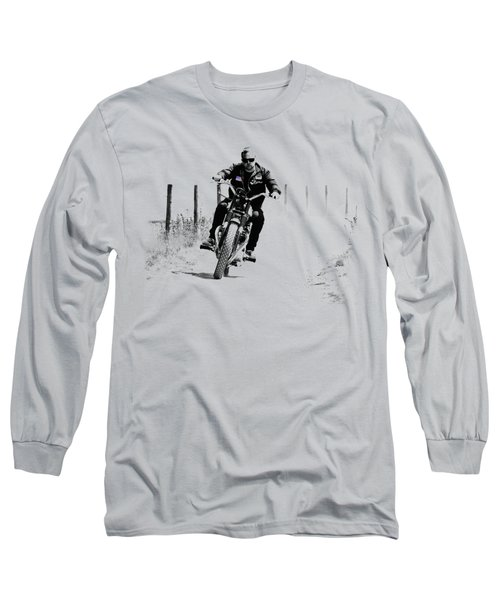 Two Wheels Move The Soul Long Sleeve T-Shirt by Mark Rogan