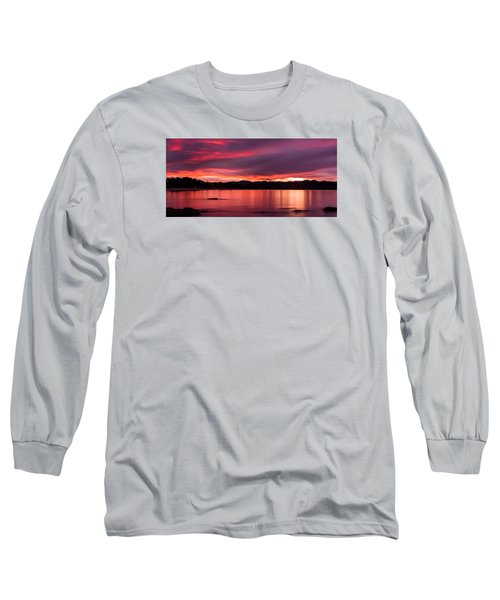 Twofold Bay Sunset Long Sleeve T-Shirt by Racheal  Christian