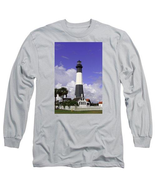 Tybee Island Lighthouse Long Sleeve T-Shirt by Elizabeth Eldridge