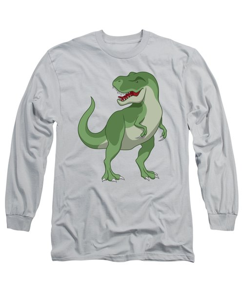 Tyrannosaurus Rex Dinosaur Green Long Sleeve T-Shirt