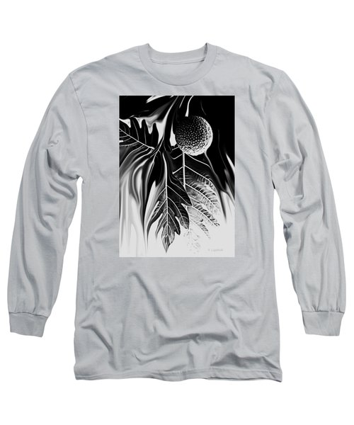 Ulu - Breadfruit Abstract Long Sleeve T-Shirt by Kerri Ligatich