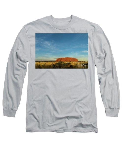 Long Sleeve T-Shirt featuring the photograph Uluru Sunset 01 by Werner Padarin