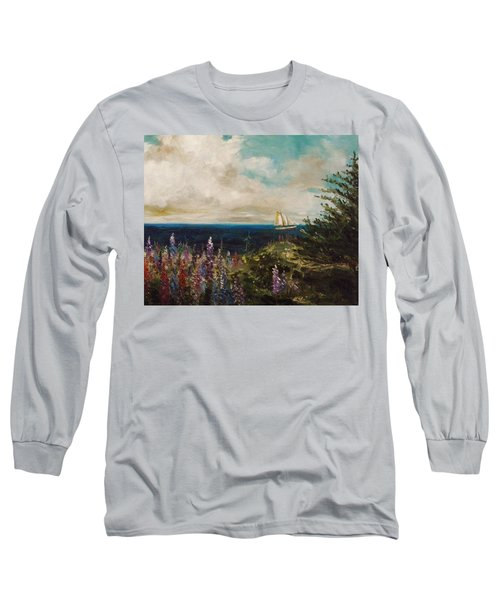 Under Full Sail Long Sleeve T-Shirt by John Williams