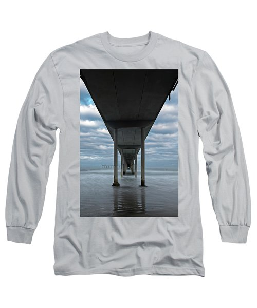 Long Sleeve T-Shirt featuring the photograph Under The Ocean Beach Pier San Diego Early Morning by James Sage