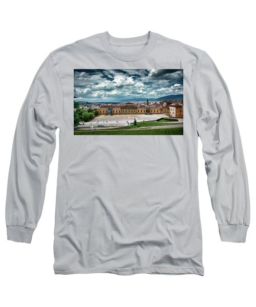 The Meridian Palace And Cityscape In Florence, Italy Long Sleeve T-Shirt