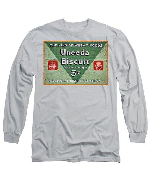 Uneeda Biscuit Vintage Sign Long Sleeve T-Shirt