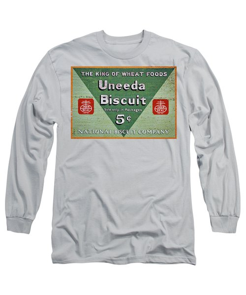 Uneeda Biscuit Vintage Sign Long Sleeve T-Shirt