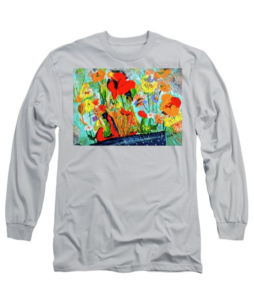 Unexpected Flower Basket Long Sleeve T-Shirt