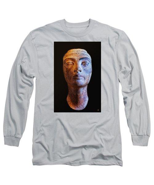 Long Sleeve T-Shirt featuring the photograph Unfinished Nefertiti by Nigel Fletcher-Jones