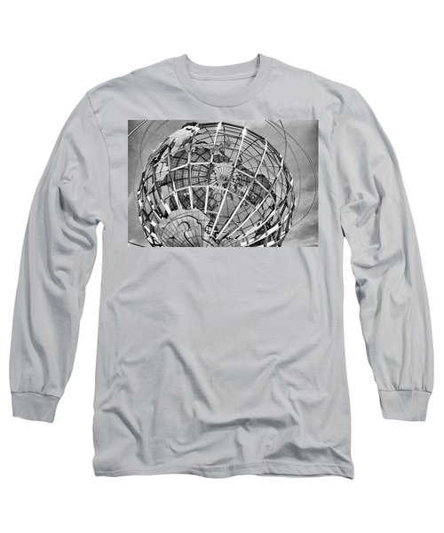 Unisphere In Black And White Long Sleeve T-Shirt