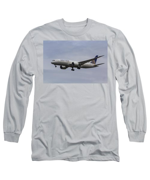 United Airlines Boeing 787 Long Sleeve T-Shirt