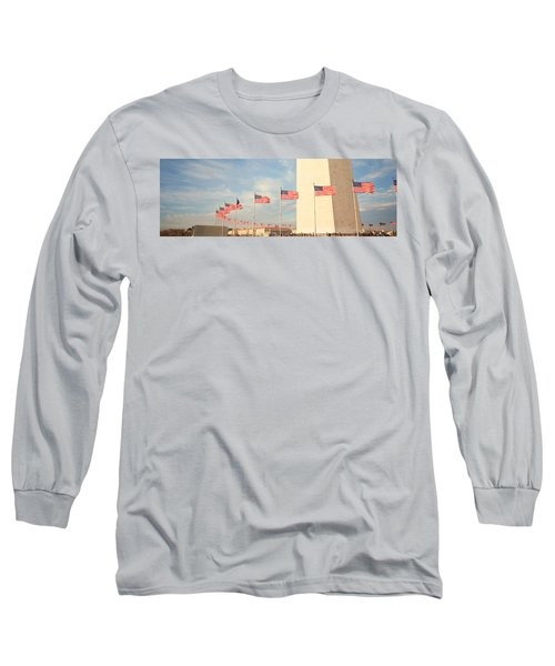 United States Flags At The Base Long Sleeve T-Shirt by Panoramic Images