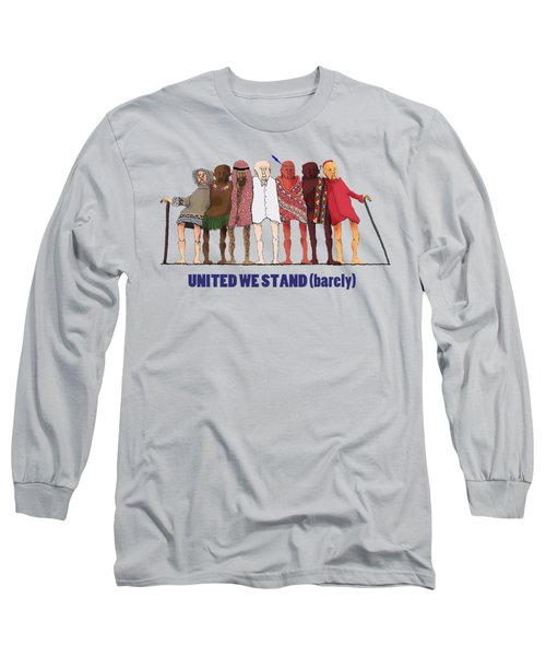 United We Stand Transparent Background Long Sleeve T-Shirt by R  Allen Swezey