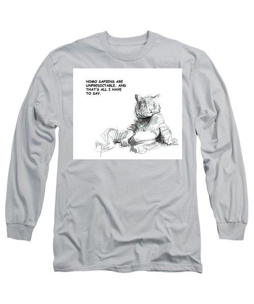 Unpredictable Cat Long Sleeve T-Shirt