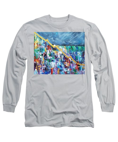 Long Sleeve T-Shirt featuring the painting Untitled by Judith Rhue