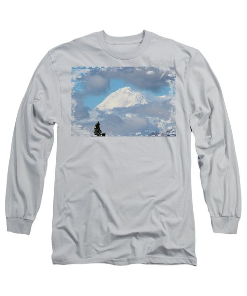 Up In The Clouds Long Sleeve T-Shirt by Di Designs