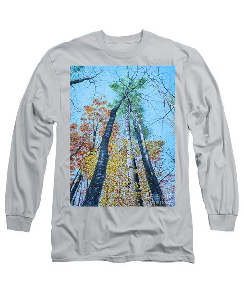 Long Sleeve T-Shirt featuring the painting Up Into The Trees by Mike Ivey