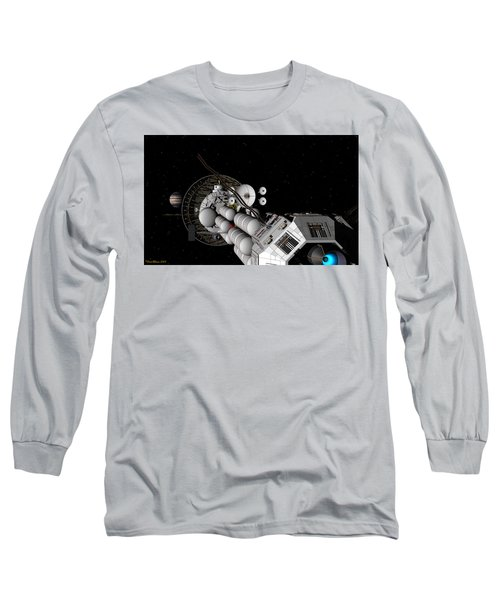 Uss Savannah Nearing Jupiter Long Sleeve T-Shirt